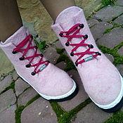 Обувь ручной работы. Ярмарка Мастеров - ручная работа Сапожки демисезонные Розовый зефир. Handmade.