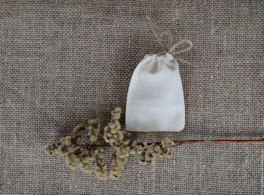 Упаковка ручной работы. Ярмарка Мастеров - ручная работа. Купить Мини-мешочек упаковочный из двунитки 6х8 см. Handmade. Мешочки