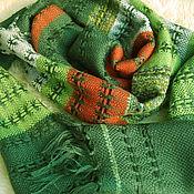 """Субкультуры ручной работы. Ярмарка Мастеров - ручная работа Шарф ручного ткачества """"Лесной ажур"""". Handmade."""