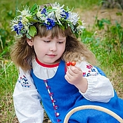 Русский стиль handmade. Livemaster - original item Russian folk costume for girls/ Russian clothing/ Russian style. Handmade.