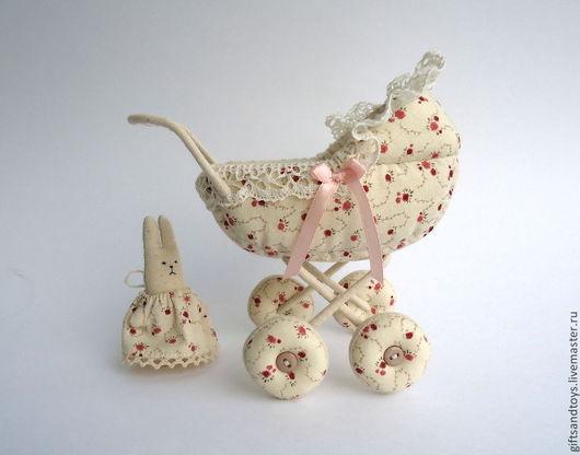 Кукольный дом ручной работы. Ярмарка Мастеров - ручная работа. Купить Колясочка в винтажном стиле для пупсика, для кукольного дома. Handmade.