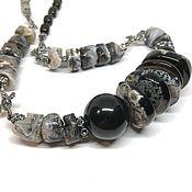 Украшения handmade. Livemaster - original item Agate necklace-jet. Made of natural stones, accessories Anna Black. Handmade.