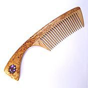 Сувениры и подарки handmade. Livemaster - original item Comb from Karaki with amethyst snowflake. Handmade.