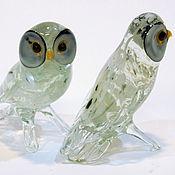 Для дома и интерьера handmade. Livemaster - original item Interior figurine made of colored glass polar Owl Degrand. Handmade.