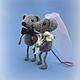 Игрушки животные, ручной работы. Мышиная свадьба. Карманова Юлия (little-ejik). Ярмарка Мастеров. Мышонок, молодожены, авторская игрушка