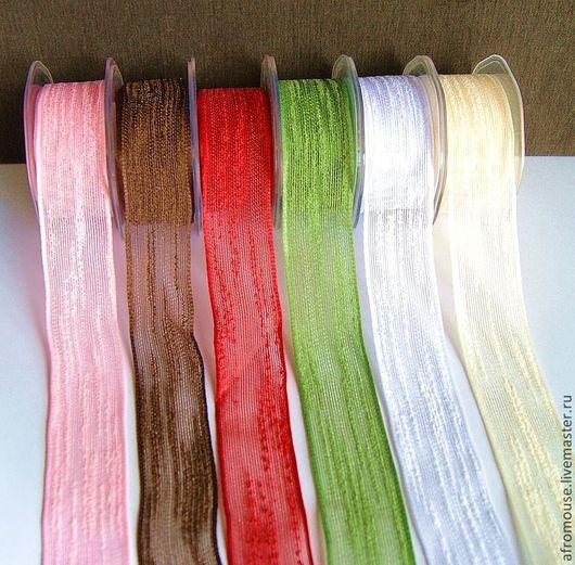 шесть цветов шебби-ленты для декора, упаковки и подарков