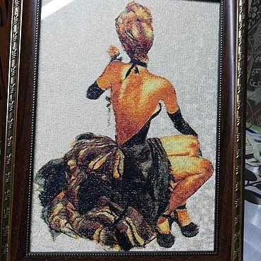 Картины и панно ручной работы. Ярмарка Мастеров - ручная работа Картины: Кокетка. Handmade.