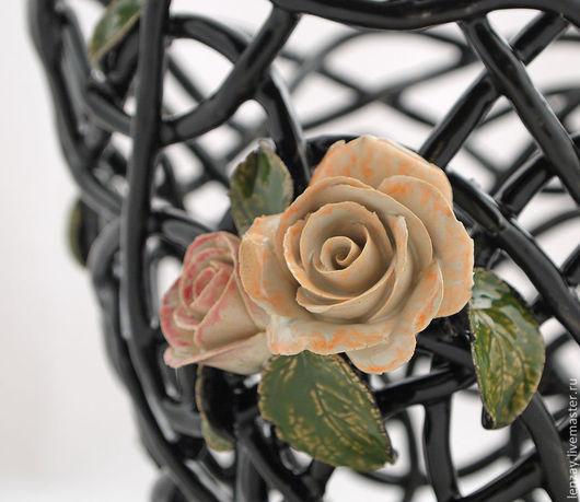 Яркое кашпо. Плетеная керамика Елены Зайченко