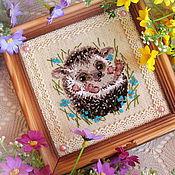 Картины и панно handmade. Livemaster - original item Forest the hedgehog. Handmade.
