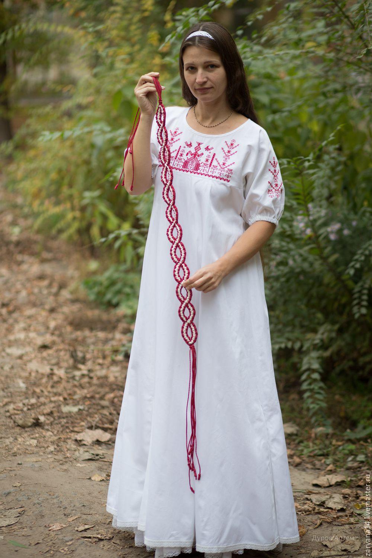 Платья ручной работы. Ярмарка Мастеров - ручная работа. Купить Платье для свадьбы. Handmade. Белый, белое платье, славянское платье