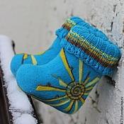 """Обувь ручной работы. Ярмарка Мастеров - ручная работа Валенки детские """"Лучик солнца"""". Handmade."""