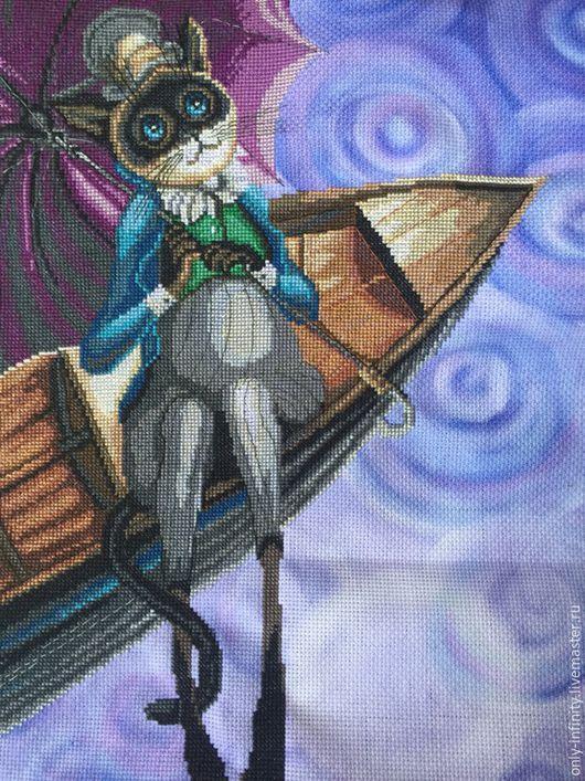 Фантазийные сюжеты ручной работы. Ярмарка Мастеров - ручная работа. Купить В поисках радуги. Handmade. Животные, кот, котик
