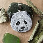Украшения ручной работы. Ярмарка Мастеров - ручная работа Кулон панда (черно-белый, подвеска панда). Handmade.