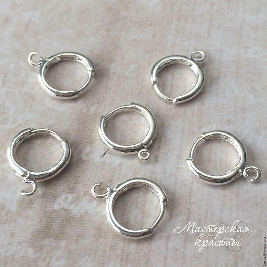 Для украшений ручной работы. Ярмарка Мастеров - ручная работа. Купить Швензы круглые кольца - основа для серег (серебро 925). Handmade.