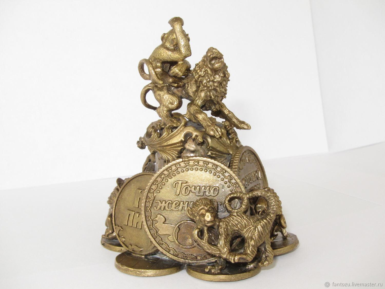 A bronze bell a Monkey with a coin, Kolokolchiki, Yaroslavl,  Фото №1