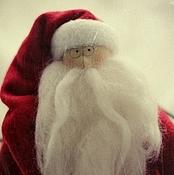 Куклы и игрушки ручной работы. Ярмарка Мастеров - ручная работа Санта с оленем (тильда). Handmade.