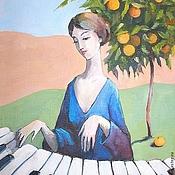 Картины и панно handmade. Livemaster - original item Piano and Tangerine tree art print. Handmade.