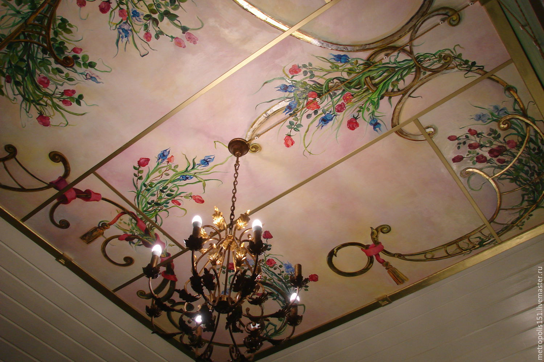 Роспись потолка в деревянном доме, Картины, Москва, Фото №1