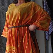 """Одежда ручной работы. Ярмарка Мастеров - ручная работа Туника платье """"Кружево"""" из льна, большой размер. Handmade."""