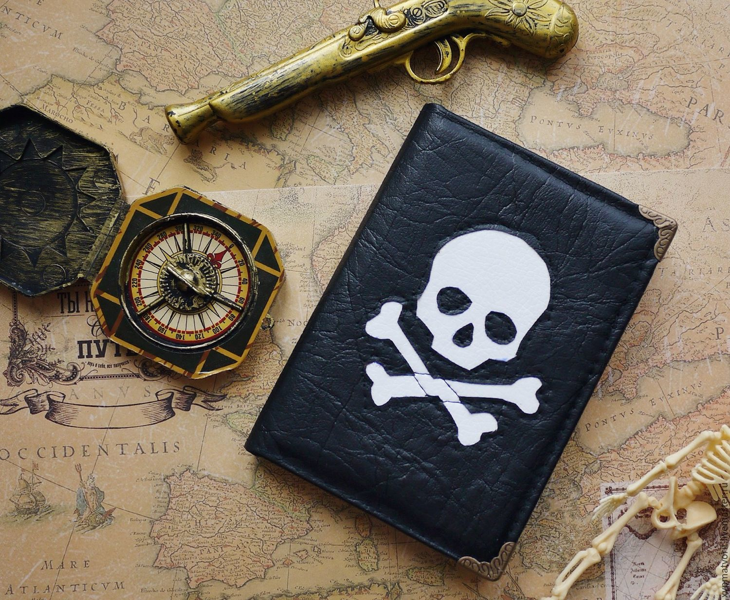Pirate passport cover, Passport cover, Novosibirsk,  Фото №1