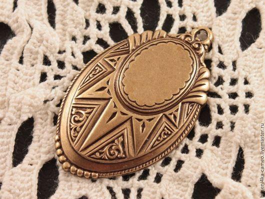Для украшений ручной работы. Ярмарка Мастеров - ручная работа. Купить Оправа Солнце 13х18мм, античное золото (1шт). Handmade.