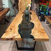 """Столы ручной работы. Ярмарка Мастеров - ручная работа Стол """"Река"""" из слэбов ценных пород. Handmade."""