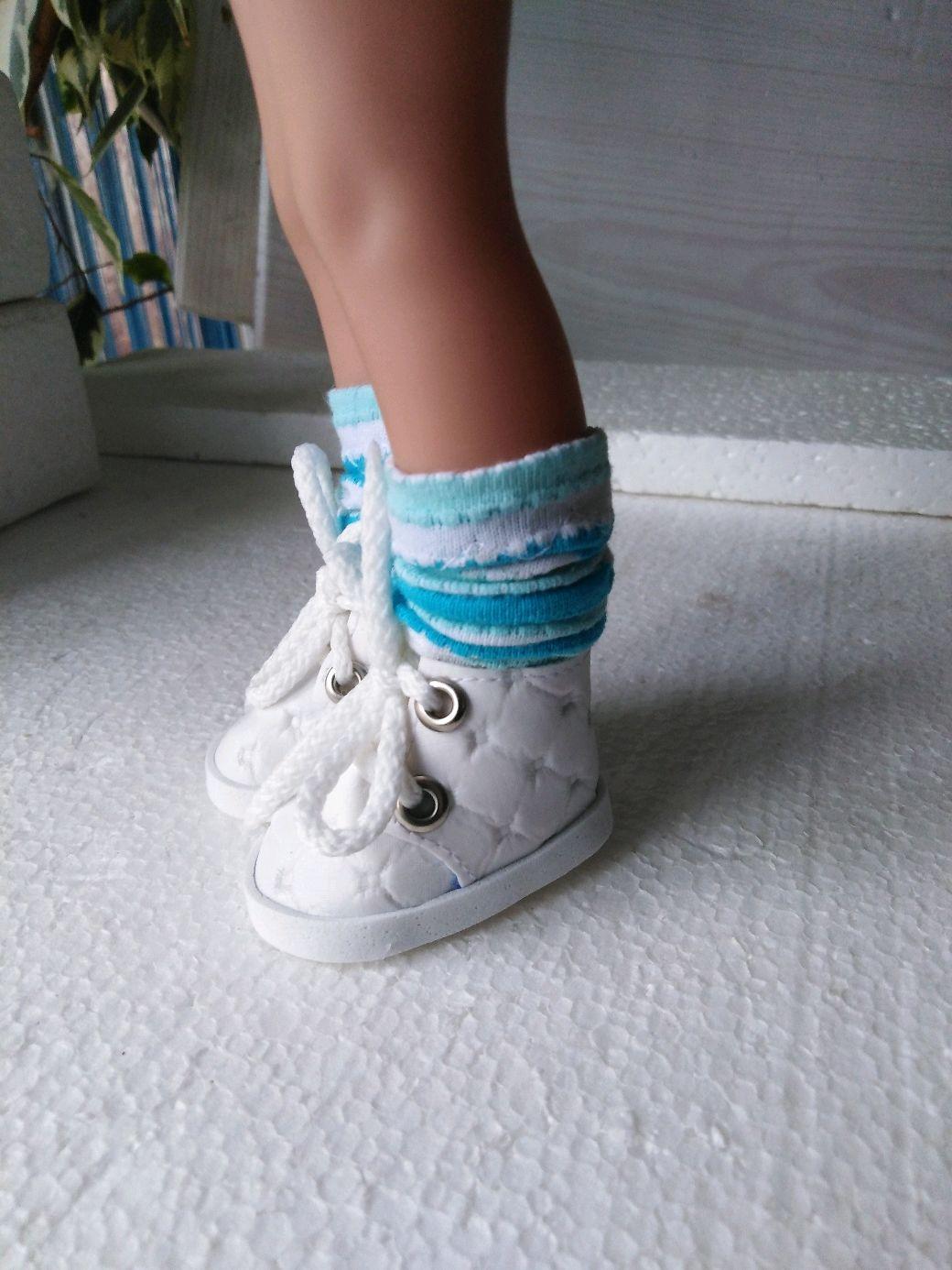 Кеды белые для Паолочки, Одежда для кукол, Челябинск,  Фото №1