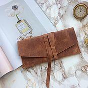 Клатчи ручной работы. Ярмарка Мастеров - ручная работа Женская кожаная сумочка (клатч) ручной работы прошита седельным швом. Handmade.