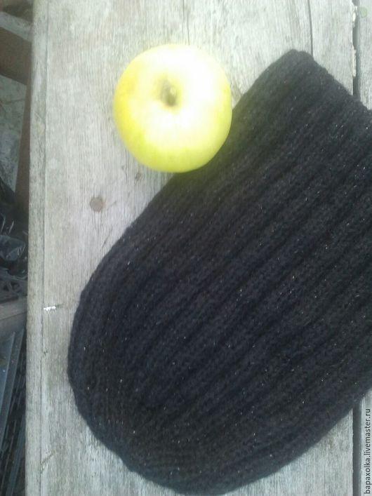 """Шапки ручной работы. Ярмарка Мастеров - ручная работа. Купить Шапка мохеровая """"Ночь"""". Handmade. Черный, мохеровый, зимняя шапка"""