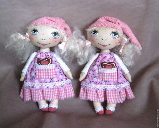 Коллекционные куклы ручной работы. Ярмарка Мастеров - ручная работа. Купить Пряничные гномочки. Handmade. Розовый, гномочка, гном, пряник