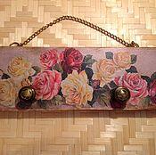 """Для дома и интерьера ручной работы. Ярмарка Мастеров - ручная работа Вешалка """"Винтажные розы"""". Handmade."""