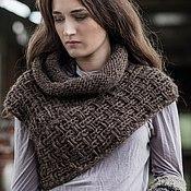 "Одежда handmade. Livemaster - original item Knit Woollen Snood ""Brown Celtic"". Handmade."