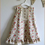 """Работы для детей, ручной работы. Ярмарка Мастеров - ручная работа Платье для девочки """"Селянка"""" с сумочкой. Handmade."""