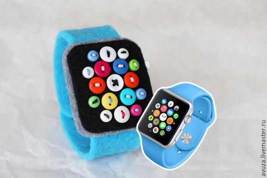 """Браслеты ручной работы. Ярмарка Мастеров - ручная работа. Купить Часы из фетра """"Аpple watch sport"""". Handmade. Разноцветный, часы"""