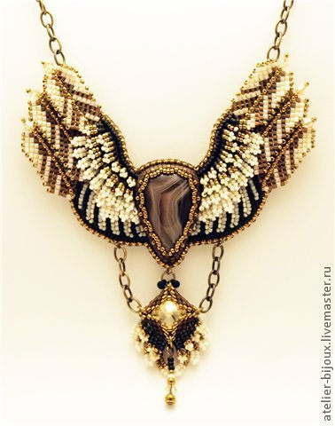 """Кулоны, подвески ручной работы. Ярмарка Мастеров - ручная работа. Купить Кулон """"Wings"""". Handmade. Кулон, Ботсванский агат, птица"""