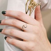 Украшения handmade. Livemaster - original item Wave ring in silver. Handmade.