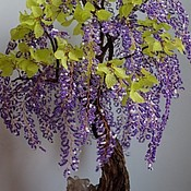 Цветы и флористика ручной работы. Ярмарка Мастеров - ручная работа дерево бонсай из бисера. Handmade.
