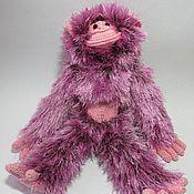 Куклы и игрушки ручной работы. Ярмарка Мастеров - ручная работа обезьяна сиреневая. Handmade.