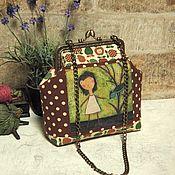 Работы для детей, handmade. Livemaster - original item Children`s handbag with clasp