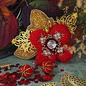 Украшения handmade. Livemaster - original item flower brooch. Mac. Brooch flower bead. Brooch beads. Handmade.