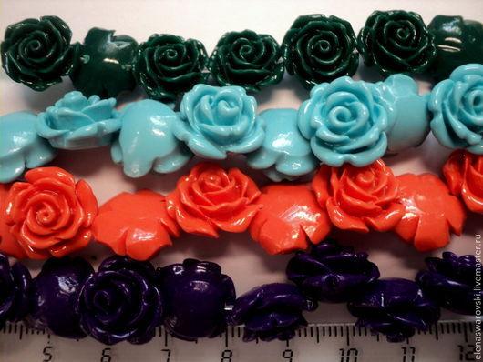 Для украшений ручной работы. Ярмарка Мастеров - ручная работа. Купить Розочки 2 размера (синтетический коралл). Handmade. Розочки