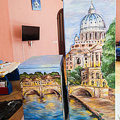 Дизайн и реклама handmade. Livemaster - original item Painting refrigerator Landscape. Handmade.