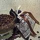 Кофейный ароматический саше.Украсит полочку для десертов или возле  чашечек