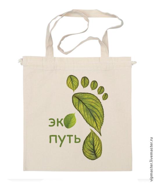 "Летняя льняная экосумка ""Экопуть"", авоська"