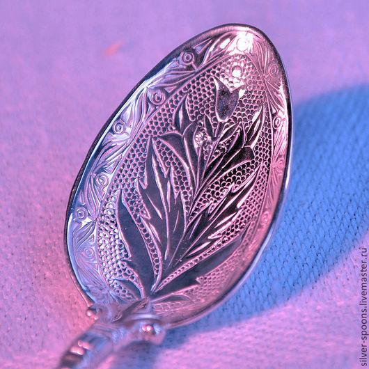 """Серебряная чайная ложка """"АМПИР"""" часто покупается в подарок новорожденному, на Крестины, на """"первый зубок"""", День Рождения малыша или в подарок на свадьбу, Юбилей."""