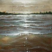 Картины и панно ручной работы. Ярмарка Мастеров - ручная работа Река. Handmade.