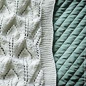 Для дома и интерьера ручной работы. Ярмарка Мастеров - ручная работа белый ажурный плед для новорожденного. Handmade.