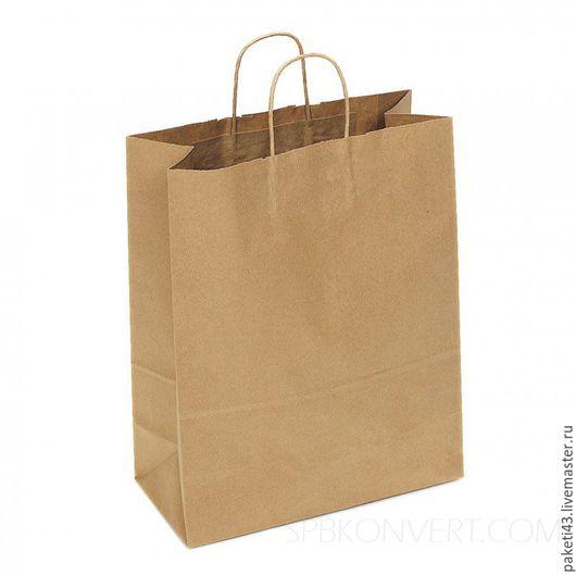 Упаковка ручной работы. Ярмарка Мастеров - ручная работа. Купить Крафт пакет с кручеными ручками 20х18х8. Handmade. Крафт пакет