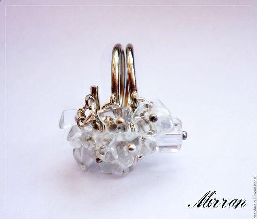 """Кольца ручной работы. Ярмарка Мастеров - ручная работа. Купить Кольцо многорядное хрусталь """"Осколки льда"""",кольцо с хрусталем. Handmade."""