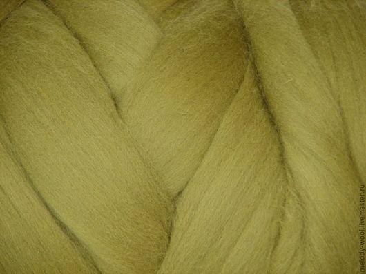 Валяние ручной работы. Ярмарка Мастеров - ручная работа. Купить Шерсть для валяния меринос 18 микрон цвет Спаржа (Asparagus). Handmade.